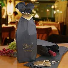 black wine bottle gift bags personalized