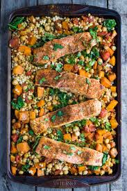 One Pan Salmon and Squash with Couscous ...