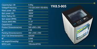 Máy giặt Yuiki YK8.5-905 | Công ty TNHH Cơ điện lạnh NGUYỄN LÊ GIA