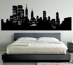 New York Skyline Wall Decal Bedroom Wall Decal Decor New York Wall Art Wall Decals For Bedroom Bedroom Wall New York Theme