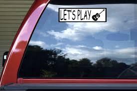 10inx3in Let S Play Guitar Bumper Sticker Music Instrument Car Truck Decal Stickertalk