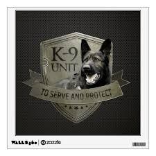 K 9 Unit Police Unit German Shepherd Wall Decal Zazzle Com