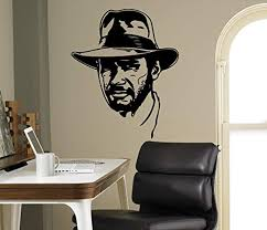 Amazon Com Wall Vinyl Decal Indiana Jones Home Ideas Vinyl Decor Sticker Home Art Print Wd5618 Home Kitchen