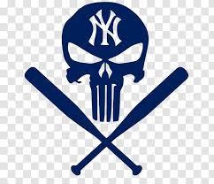 New York Yankees Mlb Decal Sticker Punisher Emblem Automotive Transparent Png