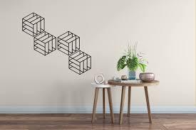 Geometric Cube Wall Decal Set Geometric Cube Wall Decal Cube Stickers Cube Wall Pattern Cube Decals Wall Patterns Geometric Wallpaper Wall Decals