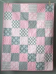 elegant patchwork quilt nursery bedding