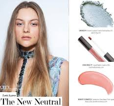 the new neutral makeup at azzaro winter