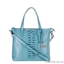 women turquoise leather tote bag pr897