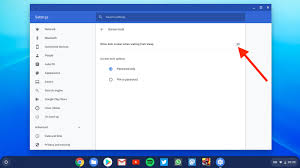 chromebook ask for pword on wake
