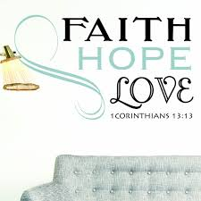 1 Corinthians 13 13 Scripture Wall Decal Faith Hope Love