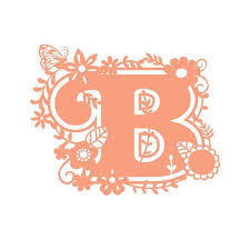 Floral Initial Letter B Vinyl Decal Sticker For Tumbler Etsy