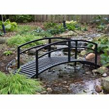 outdoor steel bridge 8 ft garden pond