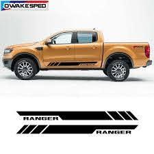 Both Side Sport Stripes Car Door Skirt Vinyl Decals For Ford Ranger Pick Up Trunk Body Decor Sticker Car Stickers Aliexpress