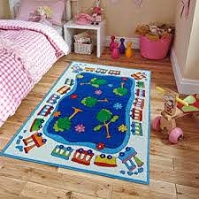 Amazon Com New Soft Kids Rugs For Boys And Girls Street Map Blue 5 By 7 Children Area Rug Trees Jungle For Playroom Nursery Large 5x7 Classroom Rug Furniture Decor