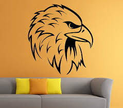 Amazon Com Eagle Wall Decal Bird Of Prey Bald Eagle Head Hawk Decals Wall Vinyl Sticker Art Wall Decor Home Kitchen