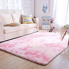Amazon Com Wondo Soft Fluffy Modern Area Rug For Living Room Bedroom Carpet Kids Room Rugs For Girls Nursery Home Decor Solid Indoor Plush Shaggy Rugs Pink 4 X 6 Kitchen Dining