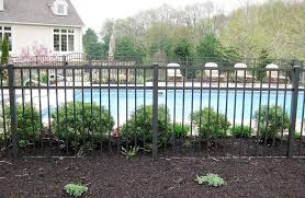 Tiny Wrought Iron Fence Around Pool For Fence Gate Fence Around Pool Aluminum Pool Fence Fence Landscaping