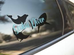 Scuba Diver Dolphin Whale Stingray Vinyl Decal Animals Anonymous Apparel