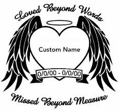 In Loving Memory Of Angel Wings Window Vinyl Decal Personalized Car Window Decal Ebay