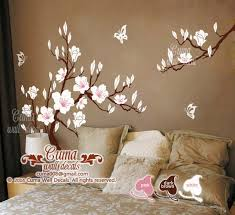 White Cherry Blossom Vinyl Wall Decals Cuma Wall Decals