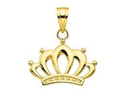 10k yellow gold crown charm bgv878