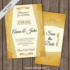stylish golden wedding invitations