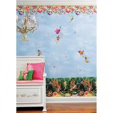 Wallpaper Roommates Peel And Stick Decor Home Wallpaper Disney Home Decor Girls Fairy Bedroom