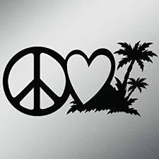 Amazon Com Peace Love Beach Life Vinyl Decal Sticker Cars Trucks Vans Walls Laptops Cups Black 7 5 X 3 7 Inch Kcd1619b Automotive