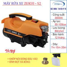 Máy rửa xe ZUKUI S2 - 2000W - tặng bình bọt xà bông