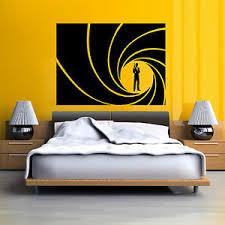 James Bond 007 Golden Gun Vinyl Wall Art Sticker Decal Ebay