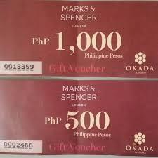 marks spencer gift voucher worth 1
