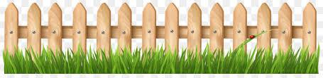 Grass Background Clipart Fence Garden Grass Transparent Clip Art