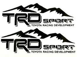 Trd Toyota Racing Development Sport Tacoma Tundra Truck Mountain Decal Sticker Ebay