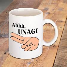 ahhh unagi quote mug made famous by friends tv show funny