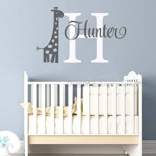 Giraffe Name Wall Decal Safari Vinyl Decals Baby Boy Nursery Decor Personalized Name Decal 28 Quot H In 2020 Baby Boy Nursery Decor Baby Boy Nurseries Name Wall Decals