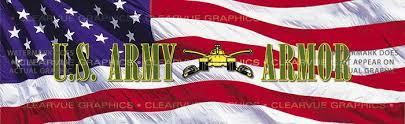 U S Army Armor Military Rear Window Graphic