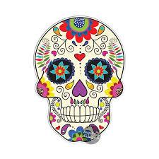 Mexican Sugar Skull Car Decal Vinyl Waterproof Bumper Etsy In 2020 Mexican Sugar Skull Skull Sticker Sugar Skull Painting