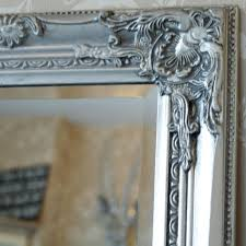 tall silver slim mirror melody maison