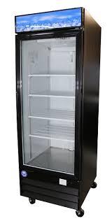 pgdr23 b 23 cu ft black glass door