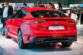 GENEVA, SWITZERLAND - MARCH 6, 2019: Kia Stinger Car Showcased ...