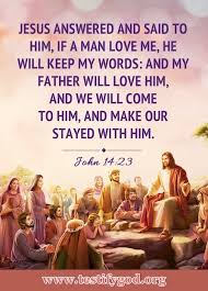 bible quote image about loving god john