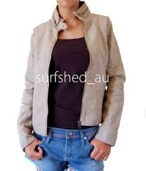 rip curl moto vinyl jacket womens