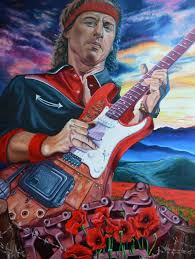 Mark Knopfler-Brothers in Arms Painting by John Henny | Saatchi Art
