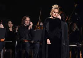 Adele Restarts George Michael Grammy Tribute After Flub - The New York Times