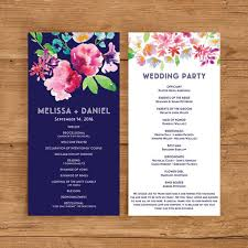 wedding programs silhouette template