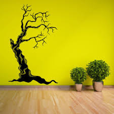 Tree Dead Creepy Horror Withering Wall Stickers For Living Room Wallpaper Art Decor Vinyl Wall Decals Bedroom Sticker Yy220 Wall Stickers Aliexpress