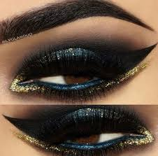 blue gold arabic eye makeup