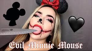 evil minnie makeup look you