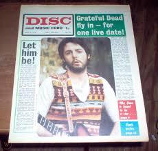 disc music echo magazine beatles split mccartney jimmy page