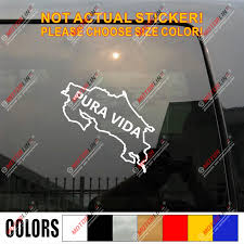 Costa Rica Map Outline Pura Vida Decal Sticker Car Vinyl Pick Size Color Die Cut Car Stickers Aliexpress